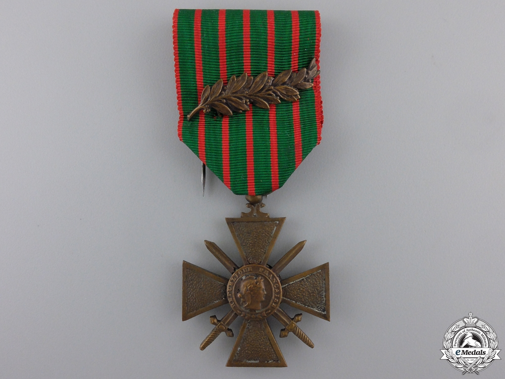 eMedals-A First War 1914-1918 French War Cross