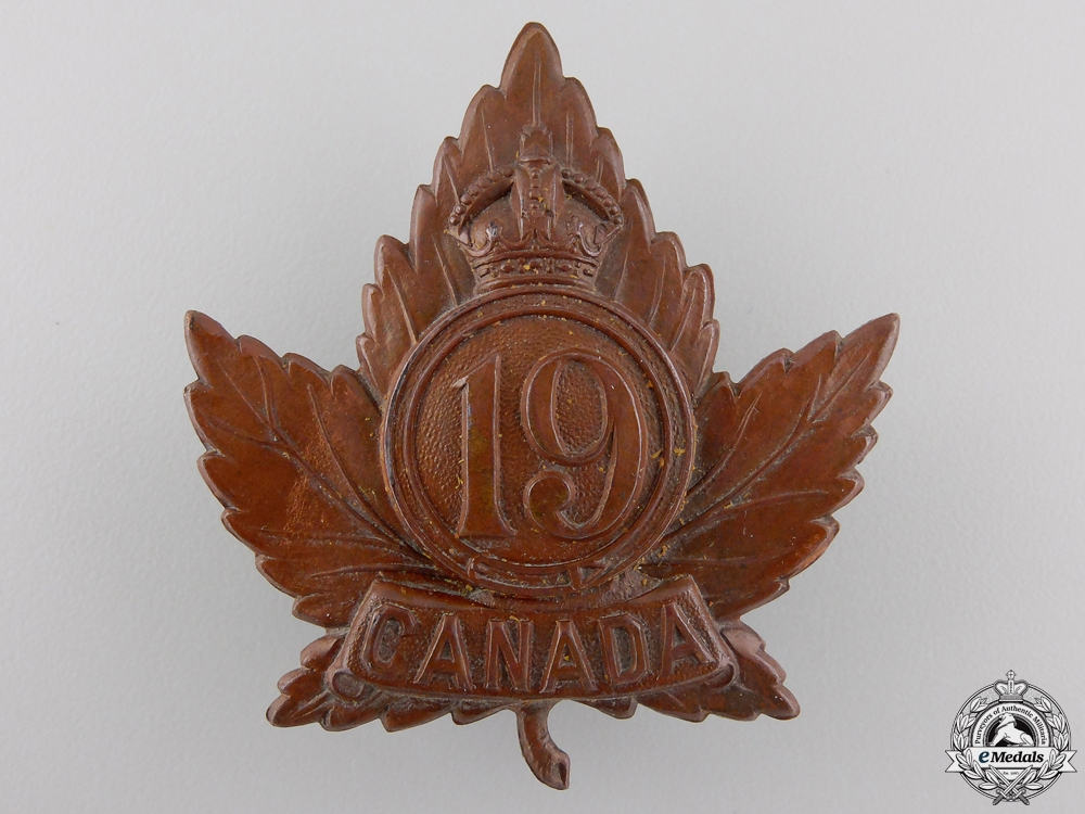 eMedals-A First War 19th Infantry Battalion Cap Badge