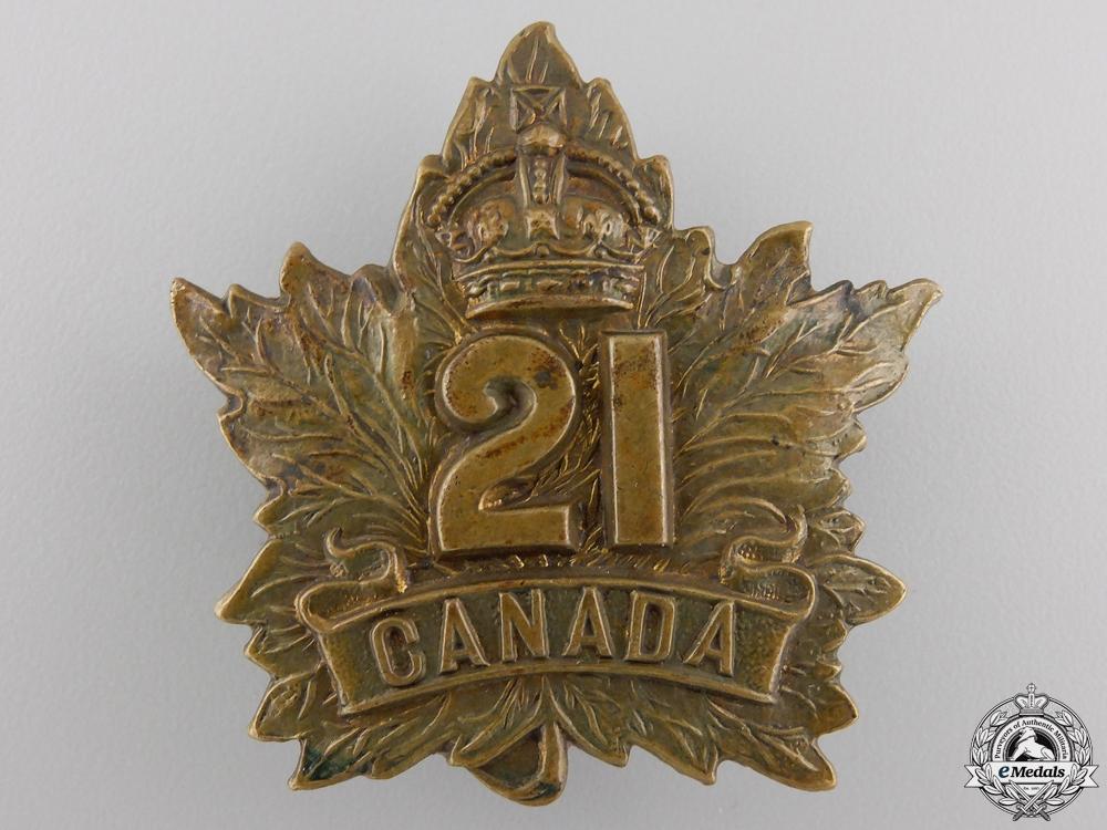 eMedals-A First War 21st Infantry Battalion Cap Badge