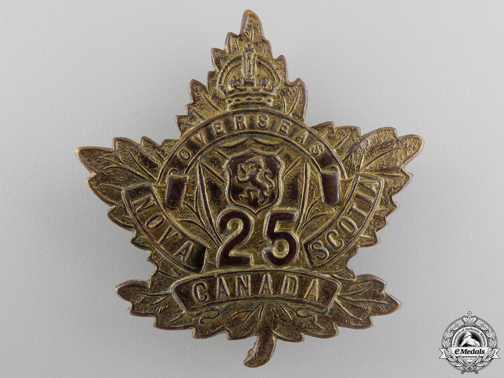"eMedals-A First War 25th Infantry Battalion ""Victoria Rifles"" Cap Badge"