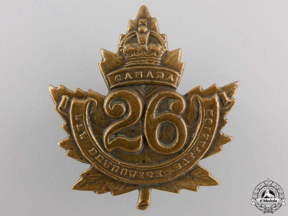 "eMedals-A First War 26th Infantry Battalion ""New Brunswick Battalion"" Cap Badge"