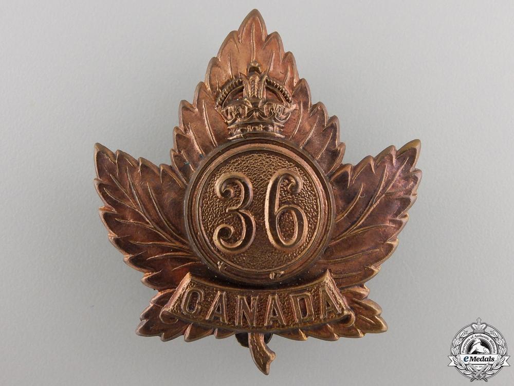 eMedals-A First War 36th Battalion Cap Badge