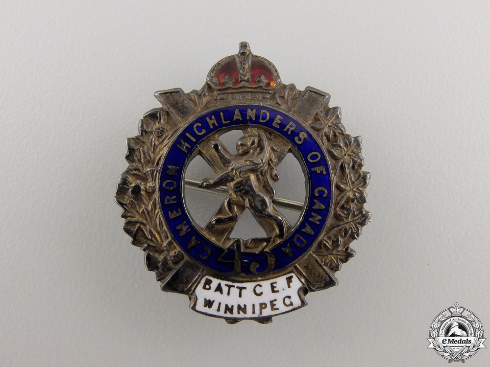 eMedals-A First War 43rd Cameron Highlanders Pin