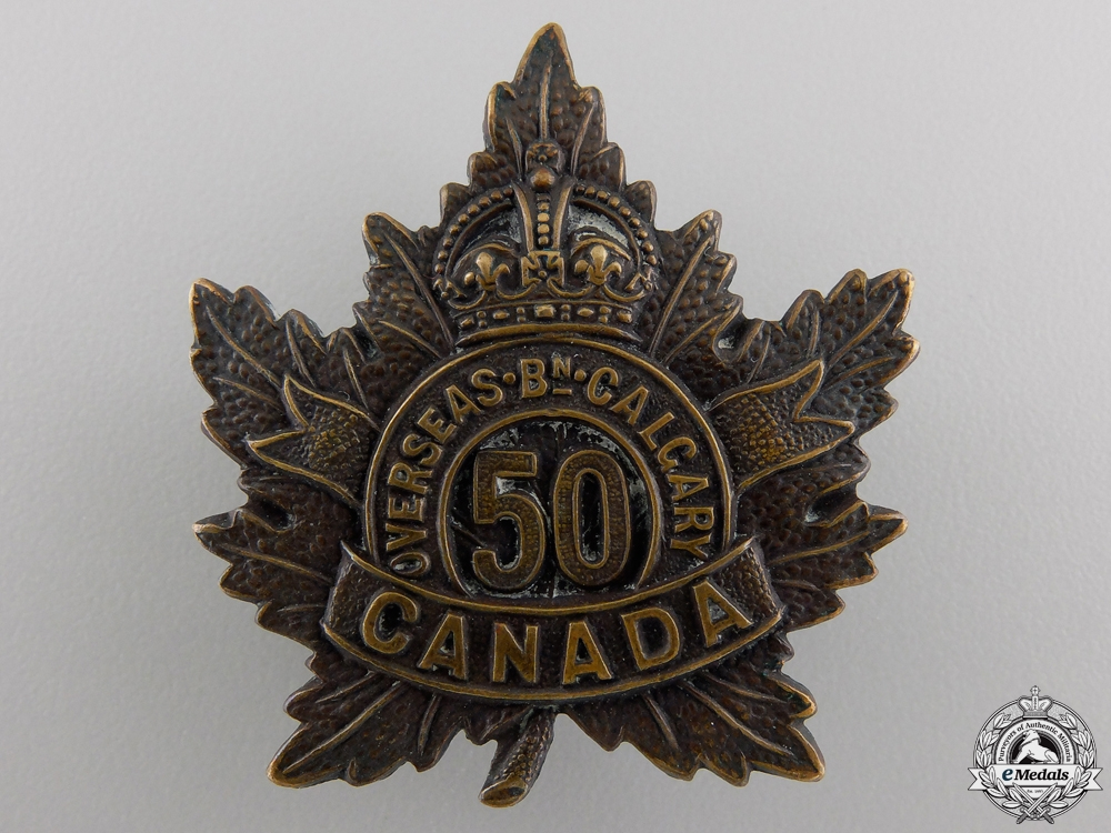 eMedals-A First War 50th Infantry Battalion Cap Badge