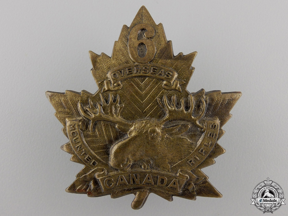 eMedals-A First War 6th Mounted Rifle Battalion Cap Badge