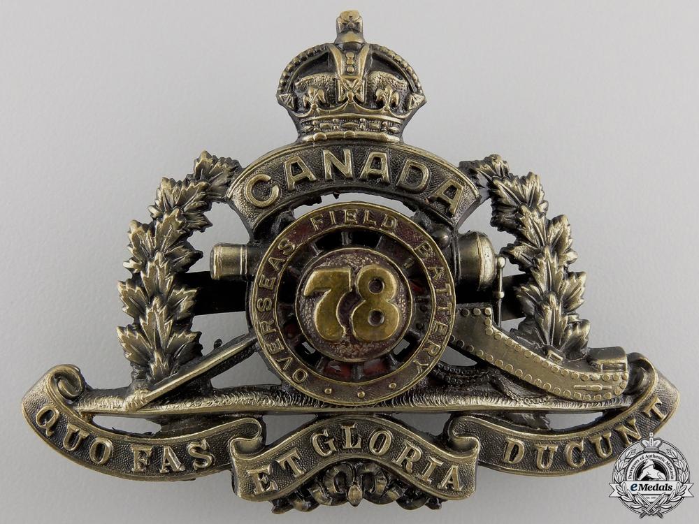 eMedals-A First War 78th Overseas Field Battery; 3rd Version