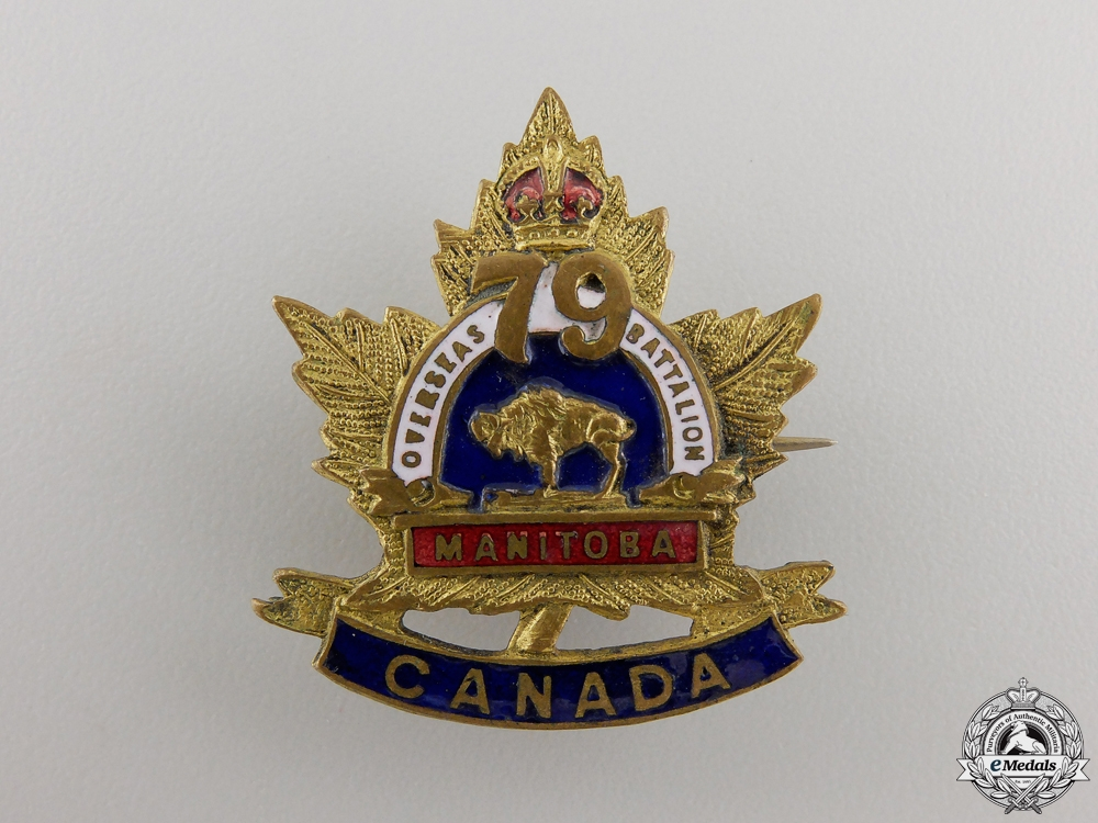 eMedals-A First War 79th Manitoba Infantry Battalion Pin