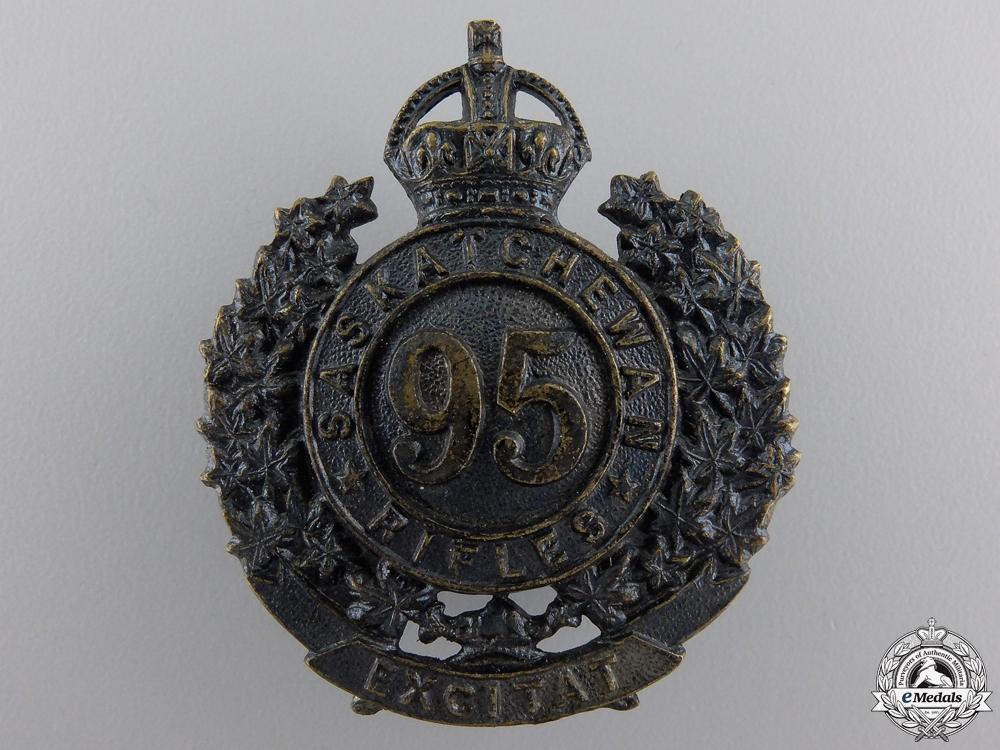 eMedals-A First War 95th Saskatchewan Rifles Badge