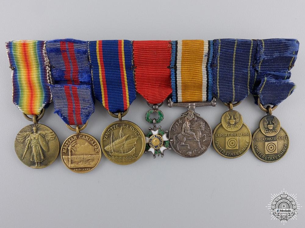 eMedals-A First War American Miniature Group of Seven Awards