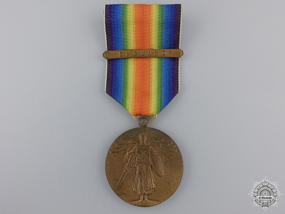 eMedals-A First War American Victory Medal; England