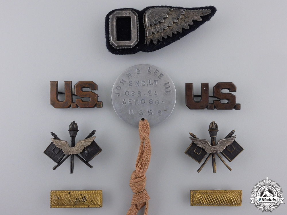 eMedals-A First War American Air Service Grouping to Lt. Lee