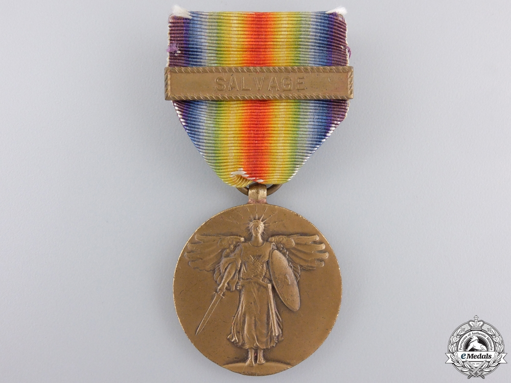 eMedals-A First War American Victory Medal; Salvage Clasp