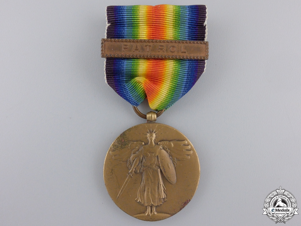 eMedals-A First War American Victory Medal; Patrol Clasp