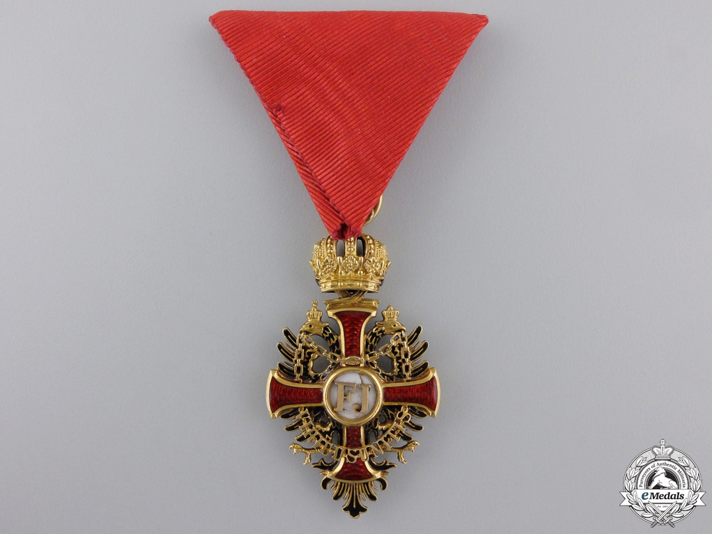eMedals-A First War Austrian Order of Franz Joseph in Gold by V.Mayer