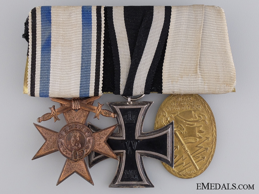 eMedals-A First War Bavarian Veteran's Group of Three Awards