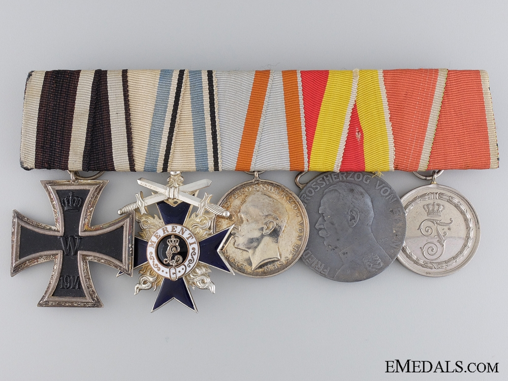 eMedals-A First War Bavarian Military Merit Medal Bar