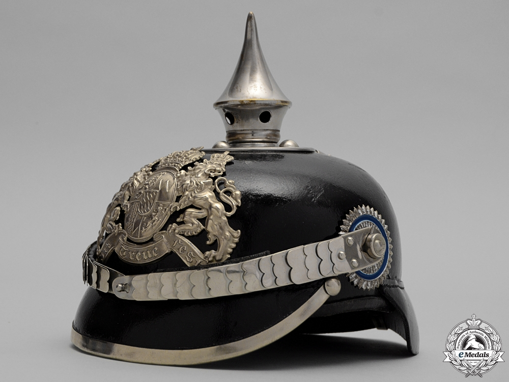 eMedals-A First War Bavarian Libe Infantry Pioneer Unit Pickelhaube