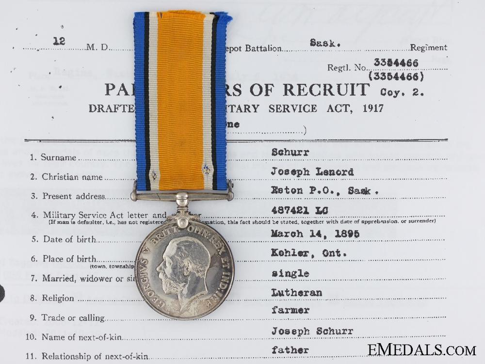 eMedals-A First War British War Medal to the Saskatchewan Regiment