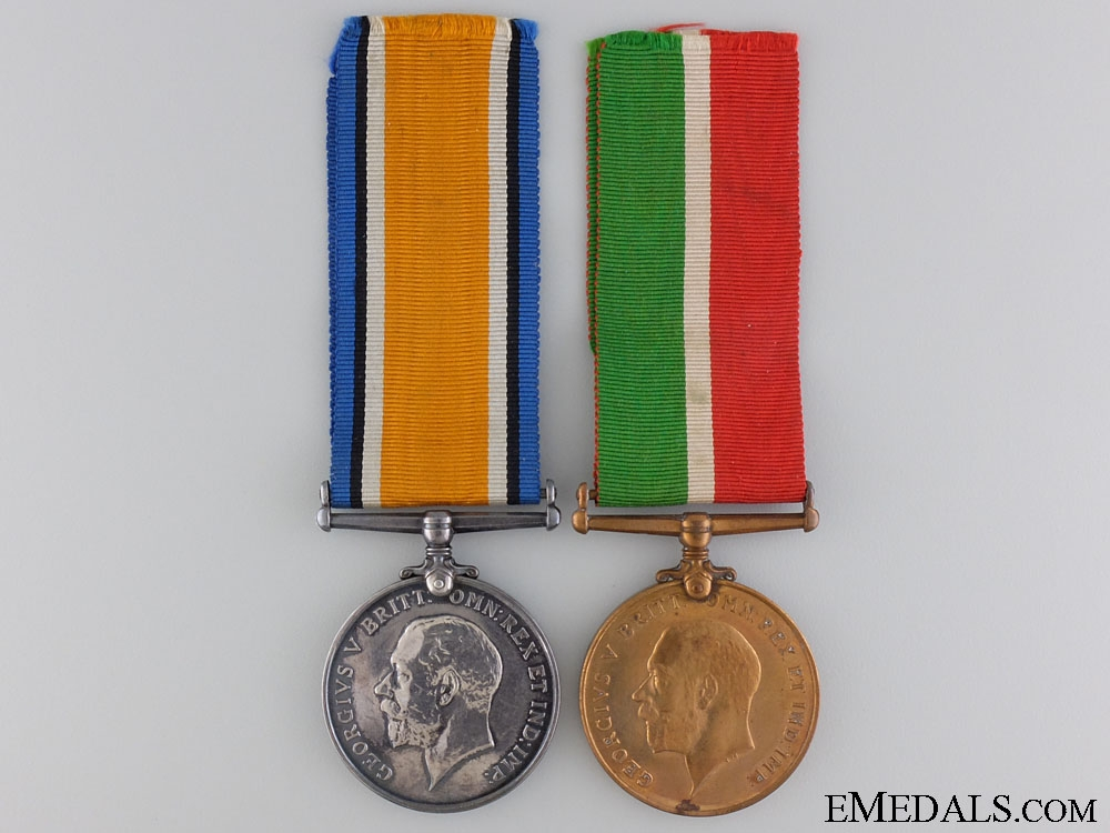 eMedals-A First War British Mercantile Marine Pair to Benjamin Laird