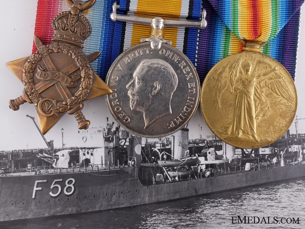 eMedals-A First War British Naval Group; Sinking of SM UB-54 1918