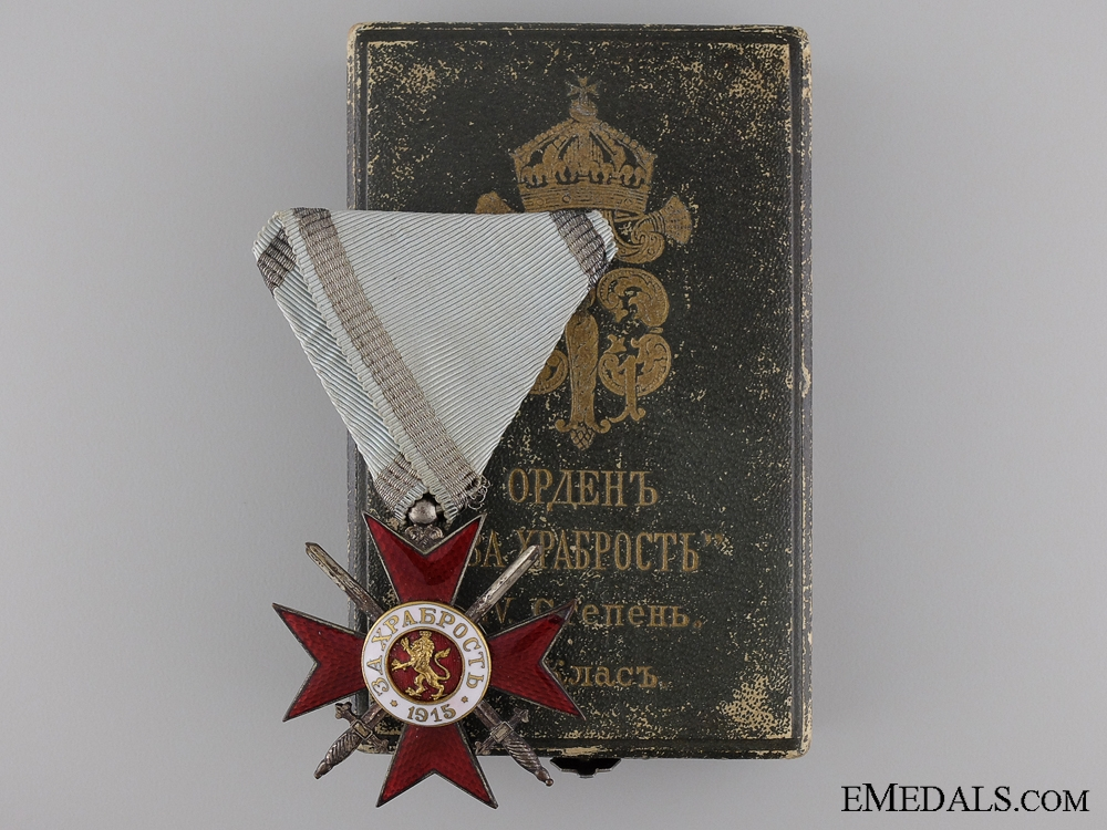 eMedals-A First War Bulgarian Order of Bravery; 4th Class with Case