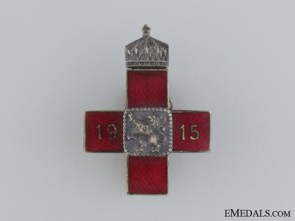 eMedals-A First War Bulgarian Red Cross Badge 1915