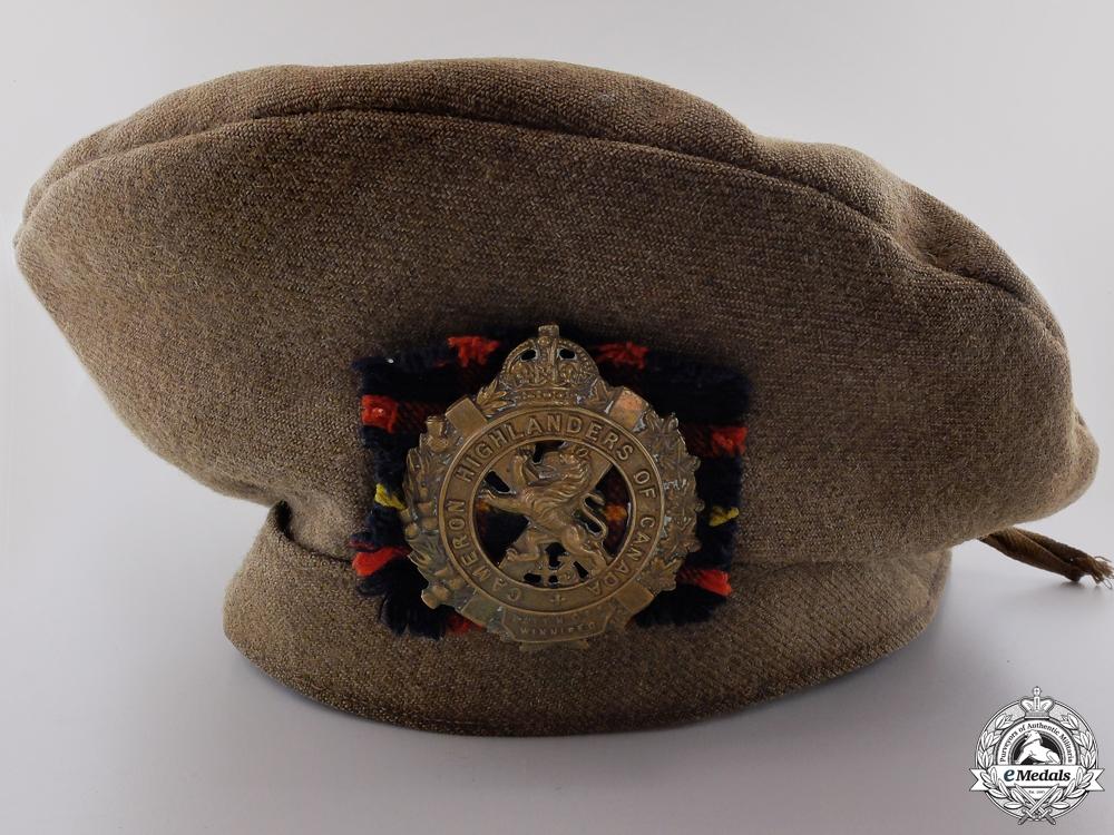 eMedals-A First War Cameron Highlanders of Canada Beret