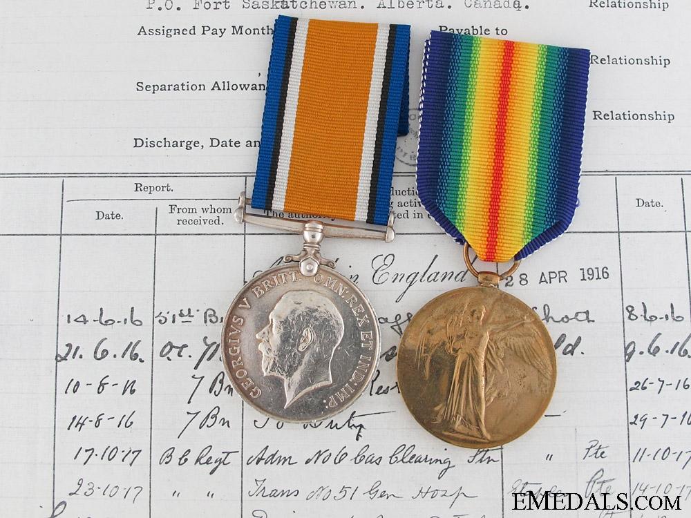 eMedals-A First War Canadian Pair to M.M. Winner