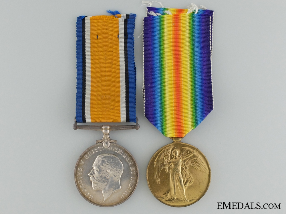 eMedals-A First War Canadian Pair to the 60th Infantry Battalion CEF