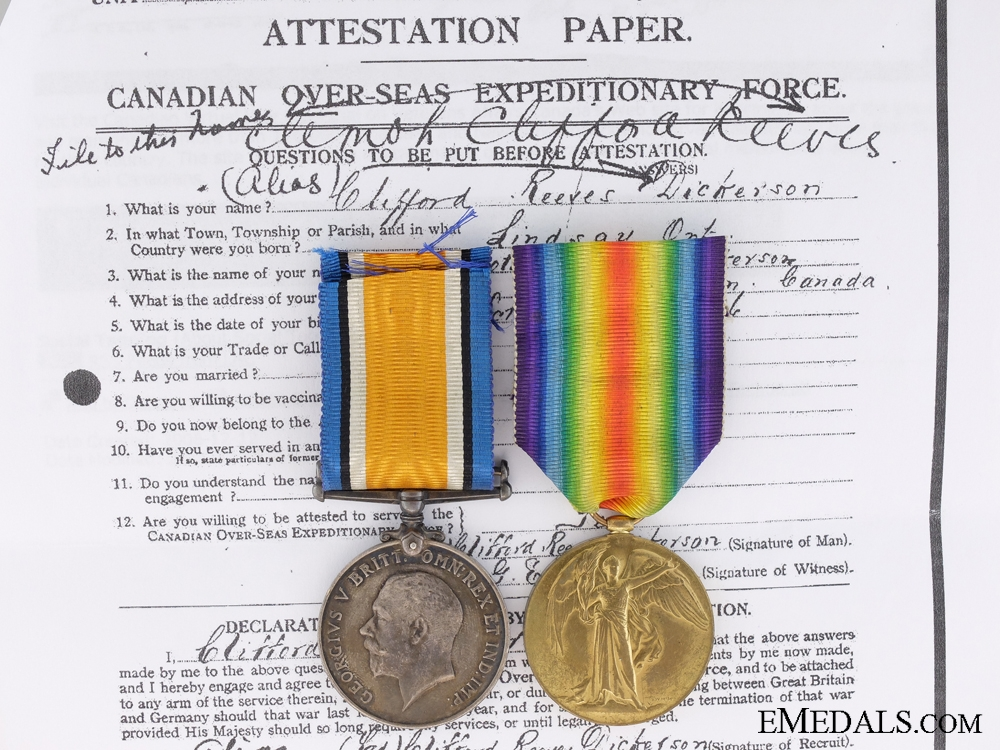eMedals-A First War Canadian Medal Pair to the 31st Infantry Battalion