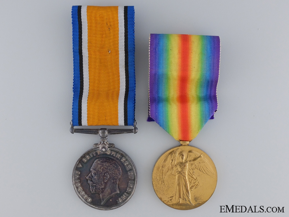 eMedals-A First War Canadian Medal Pair to the 20th Infantry CEF