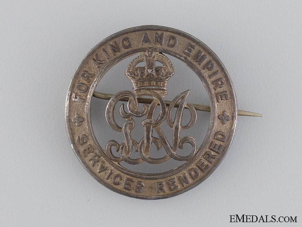 eMedals-A First War Canadian Silver War Badge