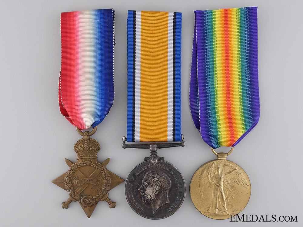 eMedals-A First War Canadian Medal Trio to the 49th Battalion