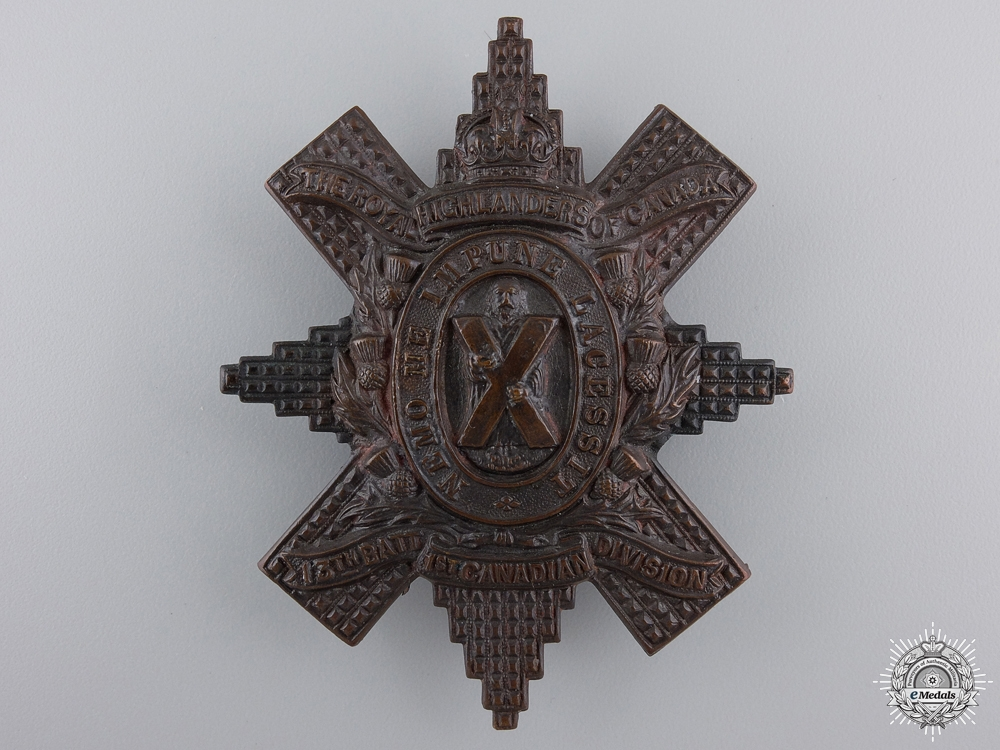 eMedals-A First War Canadian 13th Battalion Glengarry Badge  Consignment 14