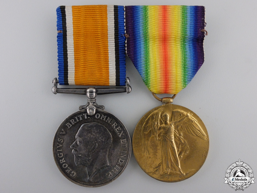 eMedals-A First War Canadian Pair to Lieutenant D.S. Thompson