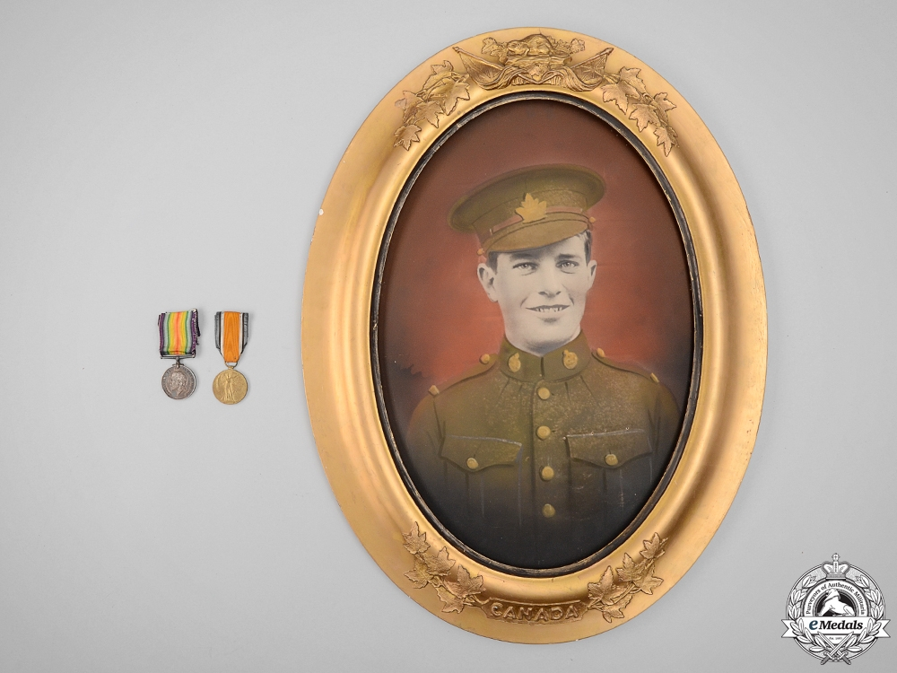 eMedals-A First War Canadian Portrait and Medals to the 3rd Infantry