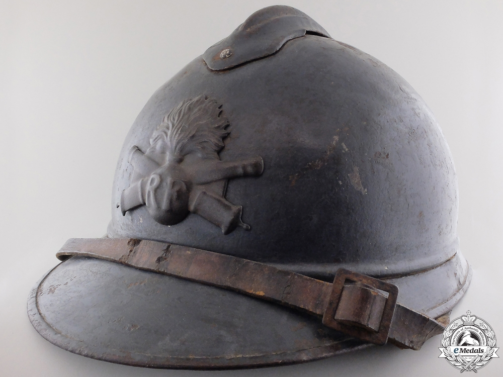 eMedals-A First War French M15 Adrian Steel Helmet