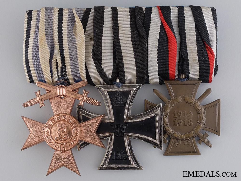 eMedals-A First War German Medal Bar; Deschler & Sohn, München