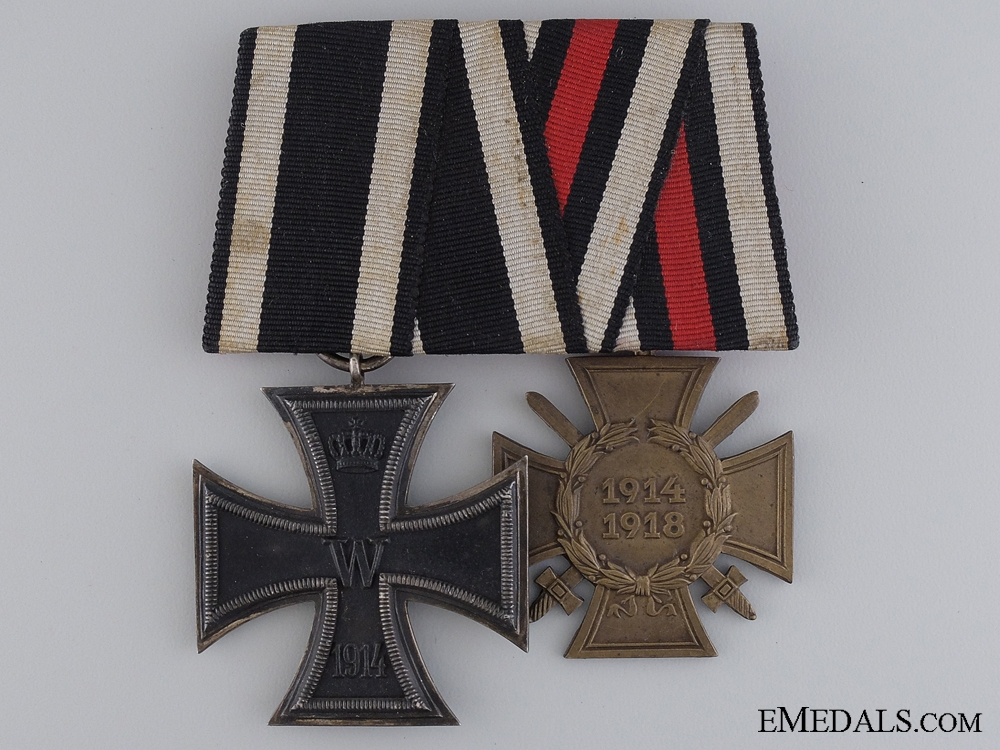 eMedals-A First War German Medal Pair; Glaser & Söhne, Dresden