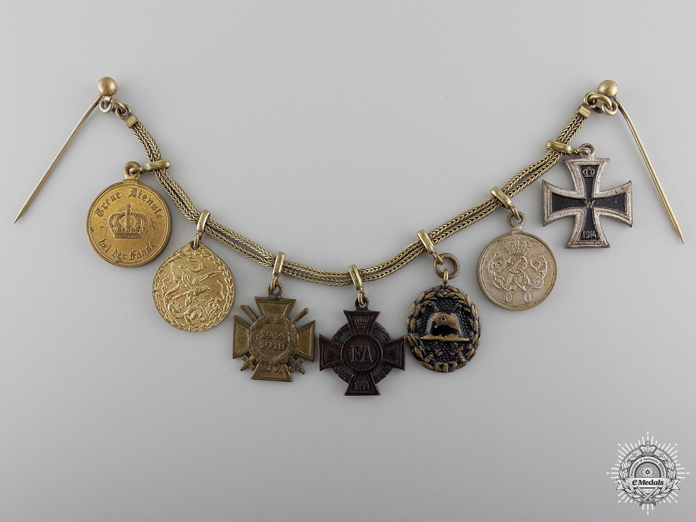 eMedals-A First War German Imperial Miniature Award Chain
