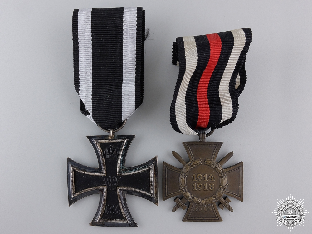 eMedals-A First War German Imperial Medal Pair; Glaser & Söhne