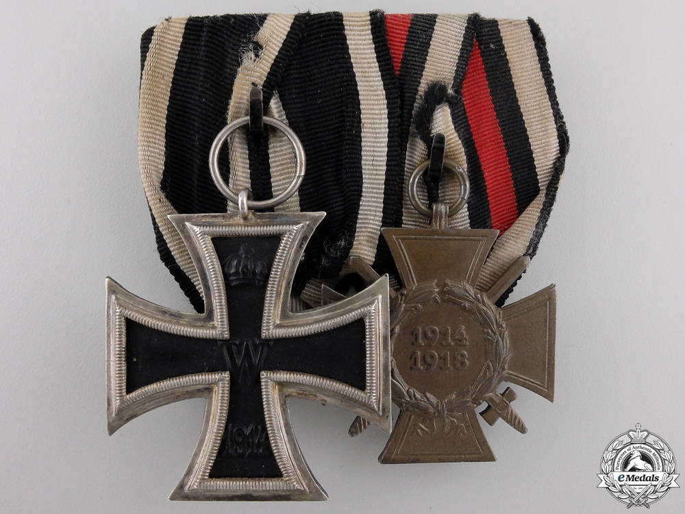 eMedals-A First War German Imperial Iron Cross Medal Pair