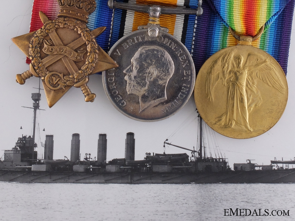 eMedals-A First War Group to the Gunner-in-Command of Torpedo Boat No.0.44