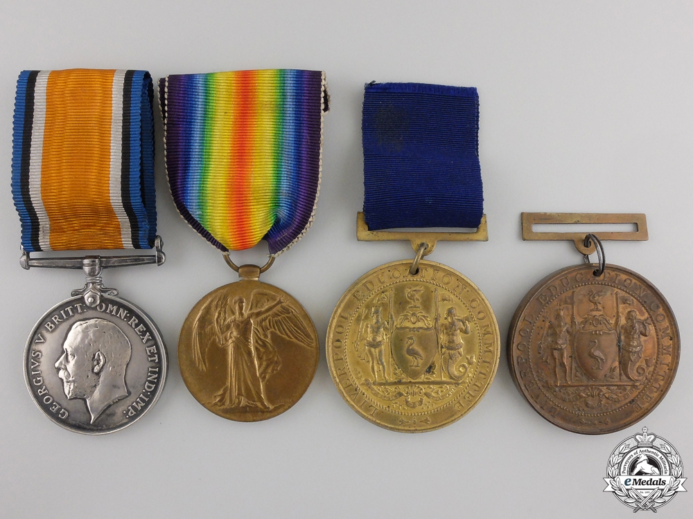 eMedals-A First War Group of Four to the Royal Artillery