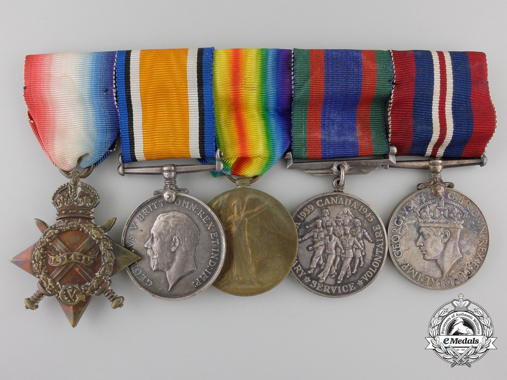 eMedals-A First War Group to the Royal Canadian Dragoons