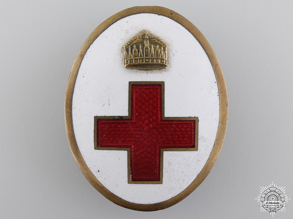 eMedals-A First War Hungarian Red Cross Members Badge