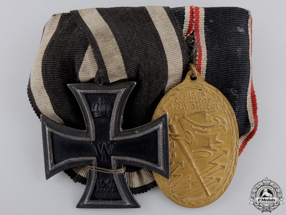 eMedals-A First War Iron Cross Medal Pair