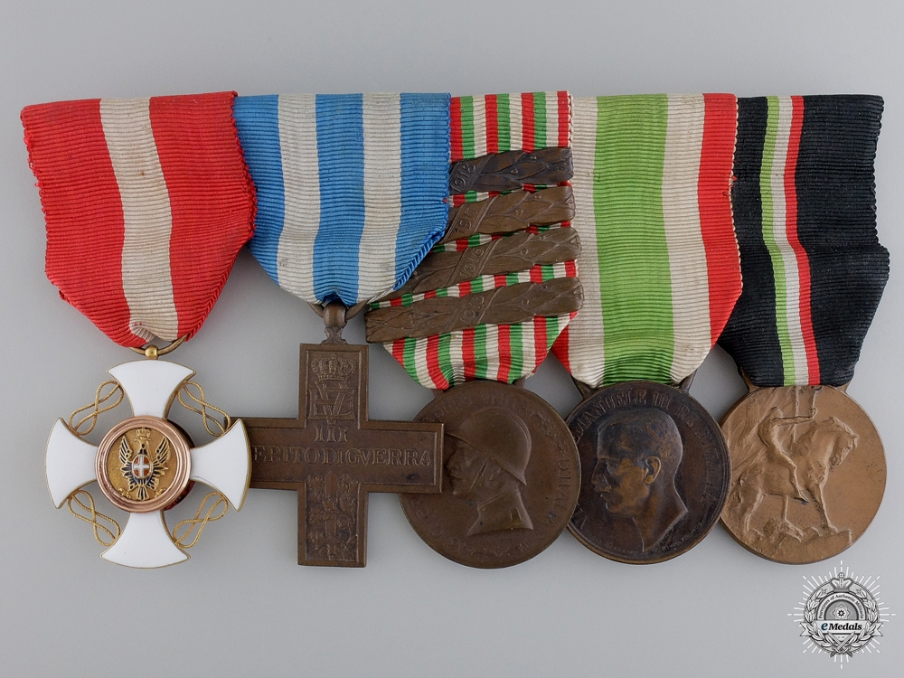 eMedals-A First War Italian Order of the Crown Medal Bar
