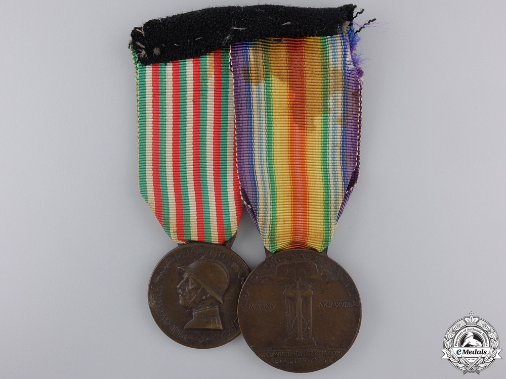 eMedals-A First War Italian Medal Pair
