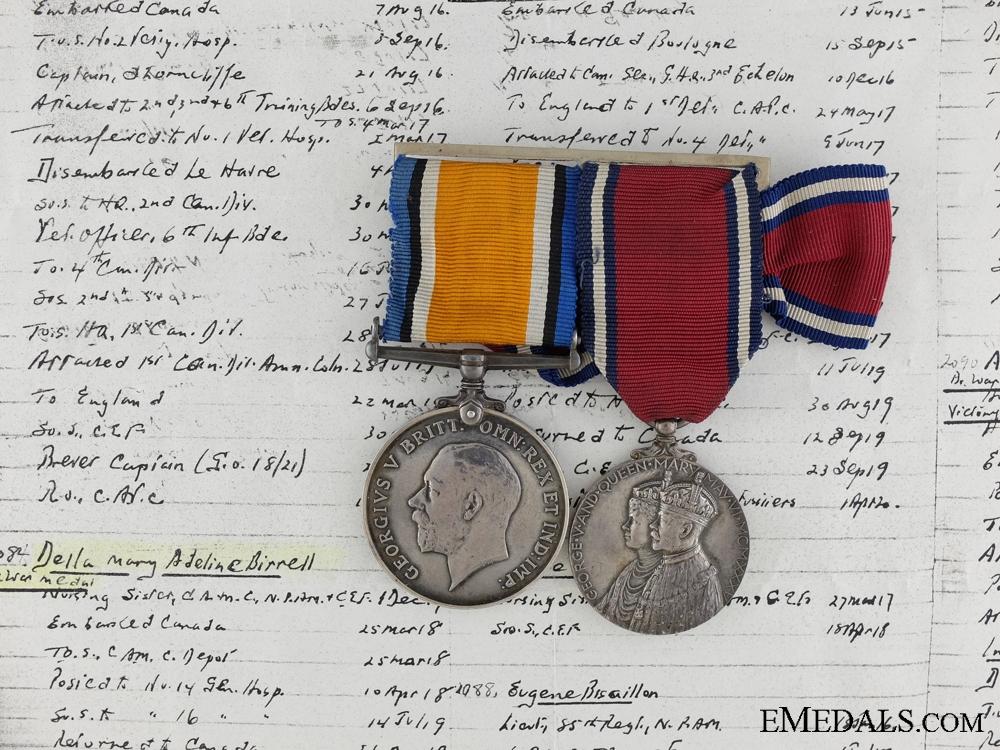 eMedals-A First War Jubilee Medal Pair to Nursing Sister Birrell CEF